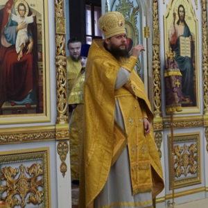 В Неделю 1-ю Великого поста, Торжества Православия, архимандрит Сергий (Брич) возглавил Божественную литургию в храме св.Ирины