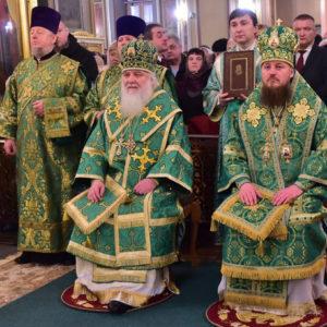 В праздник обретения мощей праведной Матроны Московской митрополит Истринский Арсений возглавил торжества в Покровском монастыре