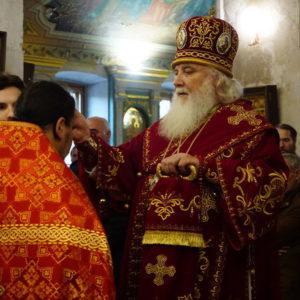 В пятницу 17 мая накануне празднования памяти св.вмц. Ирины митрополит Истринский Арсений возглавил всенощное бдение в храме святой великомученицы Ирины в Покровском