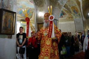18 мая в день памяти святой великомученицы Ирины архиепископ Димитрий возглавил Божественную литургию в храме св.вмц. Ирины г.Москвы