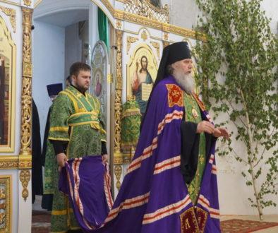 В канун праздника Святой Троицы архиепископ Димитрий совершил всенощное бдение в храме великомученицы Ирины