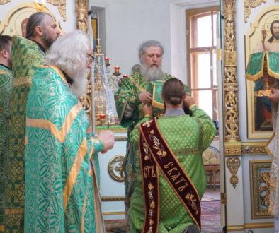 В праздник Святой Троицы архиепископ Димитрий возглавил Божественную литургию в храме великомученицы Ирины