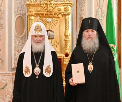 Настоятелю храма великомученицы Ирины архиепископу Витебскому и Оршанскому Димитрию была вручена церковная награда