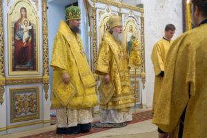 Божественная литургия архиерейским чином в храме великомученицы Ирины