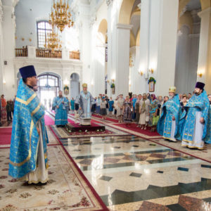 Архиепископ Витебский и Оршанский Димитрий возглавил престольные торжества в Свято-Успенском соборе города Витебска