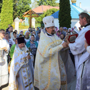 Секретарь Витебской епархии принял участие в престольных торжествах храма Преображения Господня в Чашниках