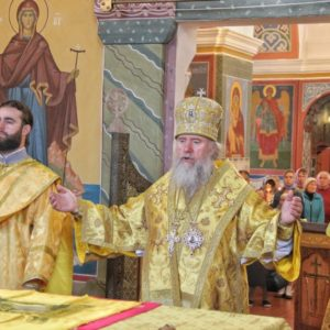 Архиепископ Витебский и Оршанский Димитрий возглавил Божественную литургию в Свято-Покровском соборе города Витебска