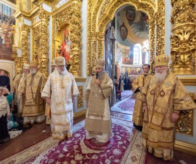 В Киево-Печерской лавре прошли торжества по случаю пятилетия интронизации Блаженнейшего митрополита Онуфрия