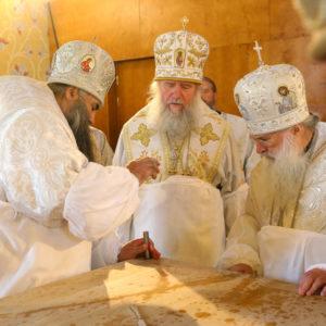 Архиепископ Витебский и Оршанский Димитрий принял участие в освящении храма в честь святой равноапостольной княгини Ольги в Нижнем Новгороде