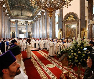 Патриаршая проповедь после Литургии в Спасо-Преображенском соборе Санкт-Петербурга