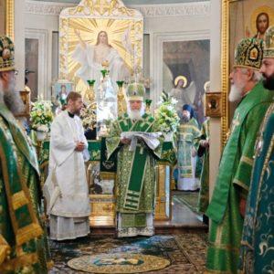 Святейший Патриарх Кирилл совершил Литургию в Даниловом монастыре и возглавил хиротонию архимандрита Леонтия (Козлова) во епископа Сызранского