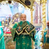 В день преставления преподобного Сергия Радонежского Святейший Патриарх Кирилл совершил Литургию в Троице-Сергиевой лавре