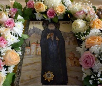 Молебен святителю Иоанну Шанхайскому и преподобному Гавриилу (Ургебадзе) в храме великомученицы Ирины