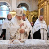 Святейший Патриарх Кирилл совершил отпевание протопресвитера Матфея Стаднюка