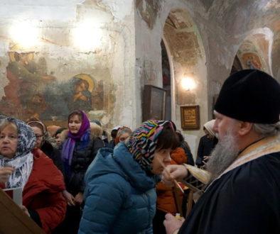 Молебен преподобным Серафиму Саровскому и Гавриилу (Ургебадзе) в храме великомученицы Ирины г.Москвы