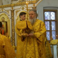 Архиепископ Витебский и Оршанский Димитрий возглавил Божественную литургию в храме великомученицы Ирины г.Москвы