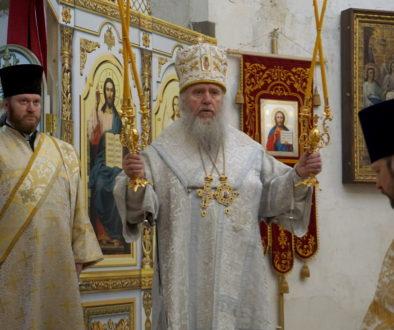 В Неделю о блудном сыне архиепископ Витебский и Оршанский Димитрий совершил Божественную Литургию в храме великомученицы Ирины г.Москвы