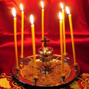 Таинство Елеосвящения (Соборование) в храме великомученицы Ирины