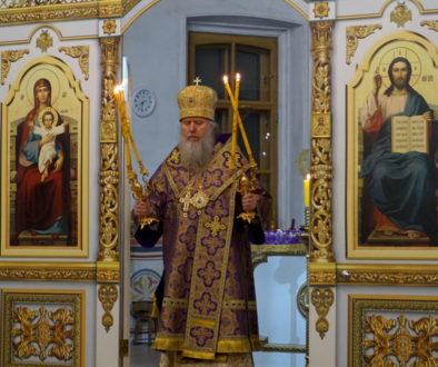 В канун Недели 3-й Великого поста архиепископ Витебский и Оршанский Димитрий совершил всенощное бдение в храме великомученицы Ирины г.Москвы