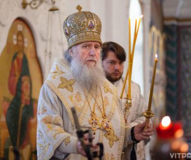 В праздник Вознесения Господня архиепископ Витебский и Оршанский Димитрий совершил Литургию в Свято-Покровском соборе города Витебска