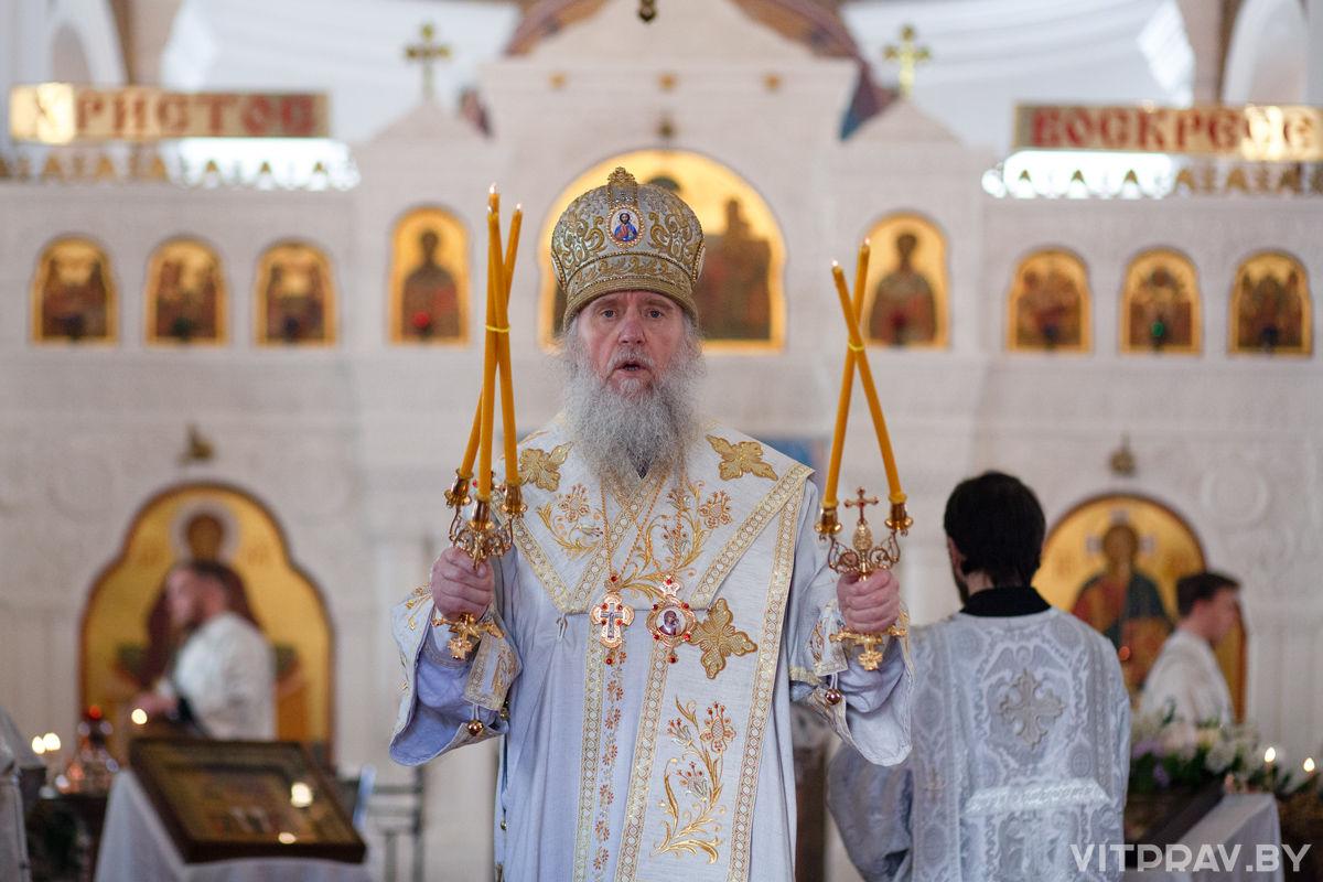 Архиепископ Витебский и Оршанский Димитрий возглавил воскресное богослужение в Свято-Покровском соборе г.Витебска