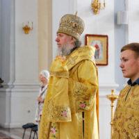 В канун Недели 4-ой по Пятидесятнице архиепископ Витебский и Оршанский Димитрий совершил всенощное бдение в Свято-Успенском кафедральном соборе г.Витебска