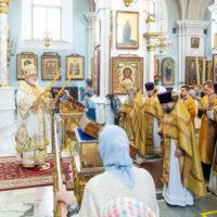 В день памяти равноапостольного князя Владимира Патриарший Экзарх совершил Литургию в Свято-Духовом кафедральном соборе города Минска