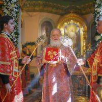 В день памяти пророка Божия Илии Святейший Патриарх Кирилл совершил Литургию в храме Илии Пророка в Обыденском переулке