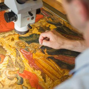 В Москве открывается выставка, посвященная 70-летию реставрационной мастерской музея Рублева
