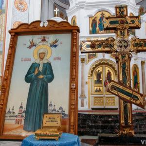 С 8 по 18 октября в Свято-Успенском кафедральном соборе города Витебска будет находиться ковчег с частицей мощей Матроны Московской и крест-мощевик