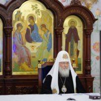 Святейший Патриарх Кирилл принял участие в беседе Президента России В.В. Путина с руководителями религиозных организаций России