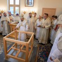 Патриарший Экзарх освятил храм Рождества Пресвятой Богородицы на месте древнего Лещинского монастыря в Пинске