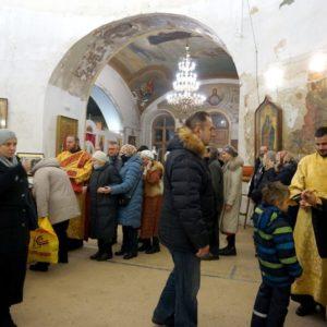 Празднование памяти святителя Николая Чудотворца в храме великомученицы Ирины города Москвы