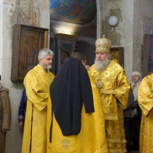 В канун празднования памяти святителя Спиридона Тримифунтского архиепископ Витебский и Оршанский Димитрий совершил всенощное бдение в храме великомученицы Ирины города Москвы