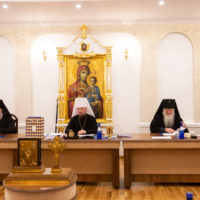 Настоятель храма великомученицы Ирины архиепископ Витебский и Оршанский Димитрий принял участие в  заключительном в 2020 году заседании Синода Белорусской Православной Церкви