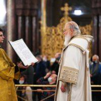Святейший Патриарх Кирилл совершил молебное пение на новолетие в Храме Христа Спасителя
