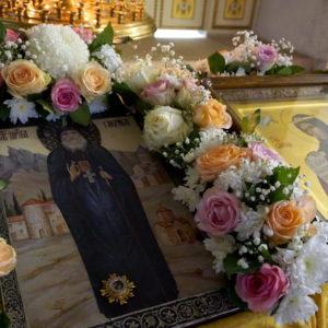 Икона преподобного Гавриила (Ургебадзе) в храме великомученицы Ирины г.Москвы