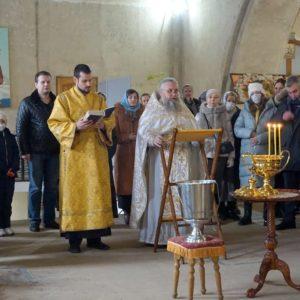 Празднование Крещения Господня в храме великомученицы Ирины