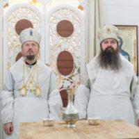 Митрополит Вениамин совершил освящение храма в честь святителя Николая Чудотворца в агрогородке Большевик Минского района