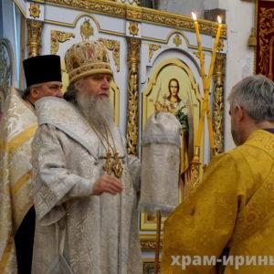 Архиепископ Витебский и Оршанский Димитрий возглавит позднюю Божественную Литургию в храме великомученицы Ирины в праздник Сретения Господня