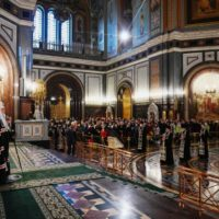 Святейший Патриарх Кирилл возглавил чин прощения в Храме Христа Спасителя
