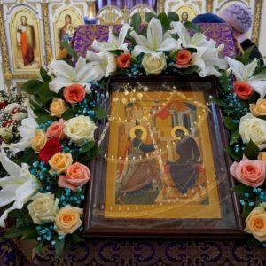 Празднование Благовещения Пресвятой Богородицы в храме великомученицы Ирины г.Москвы