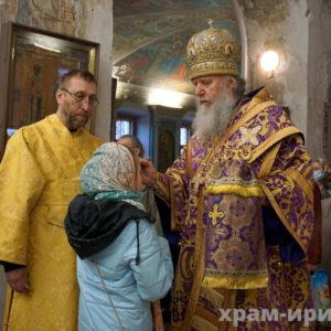 Накануне Недели 5-й Великого поста архиепископ Витебский и Оршанский Димитрий совершил всенощное бдение в храме великомученицы Ирины города Москвы