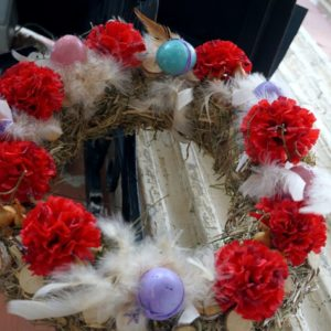 Пасхальные украшения в храме великомученицы Ирины