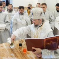 Митрополит Вениамин совершил чин освящения храма святителя Луки, архиепископа Симферопольского, города Минска