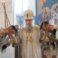 В праздник Вознесения Господня архиепископ Витебский и Оршанский Димитрий совершил Божественную литургию в Свято-Покровском соборе города Витебска