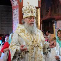 В канун праздника Вознесения Господня архиепископ Витебский и Оршанский Димитрий совершил всенощное бдение в Свято-Покровском соборе города Витебска