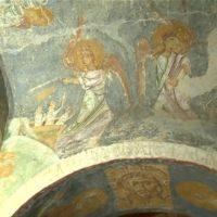 Уникальные фрески XII века реставрируют специалисты из Беларуси и России в Полоцком Спасо-Евфросиниевском монастыре