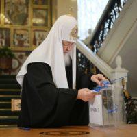 Святейший Патриарх Кирилл принял участие во всероссийских выборах в Государственную Думу